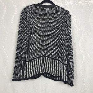 7c9a7857b0 Jones New York Sweaters - Jones NY Woman black white heavy knit sweater